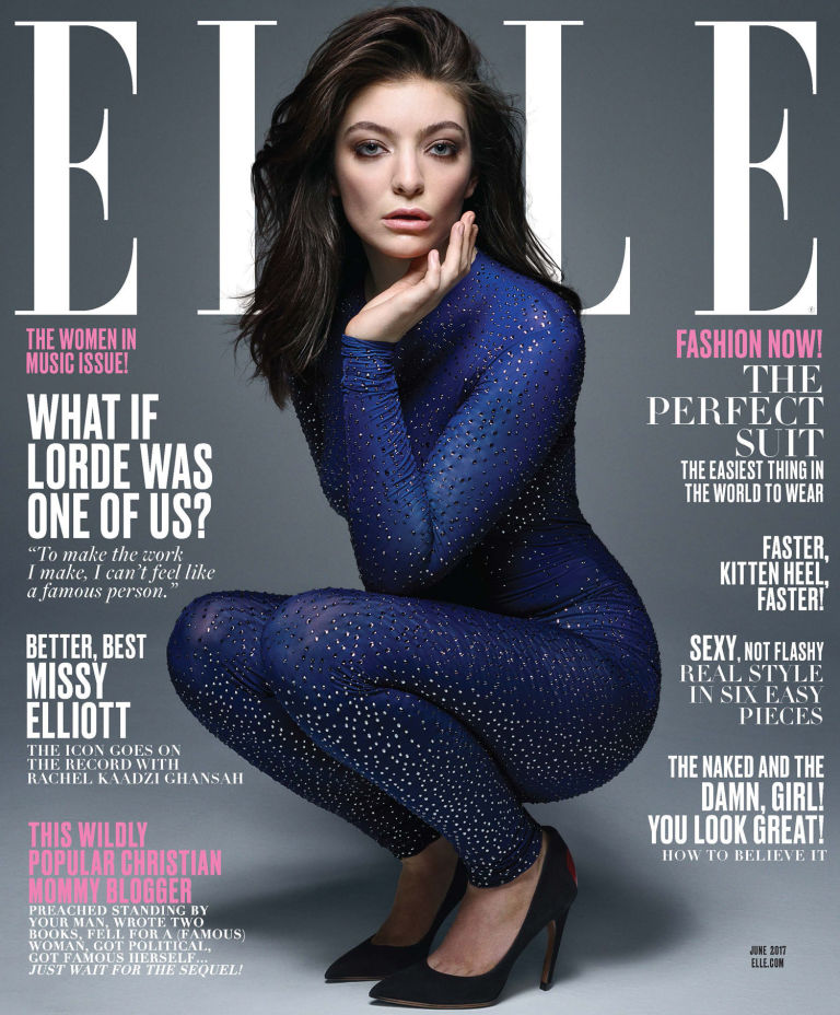 Lorde on the cover of Elle Magazine May 2017