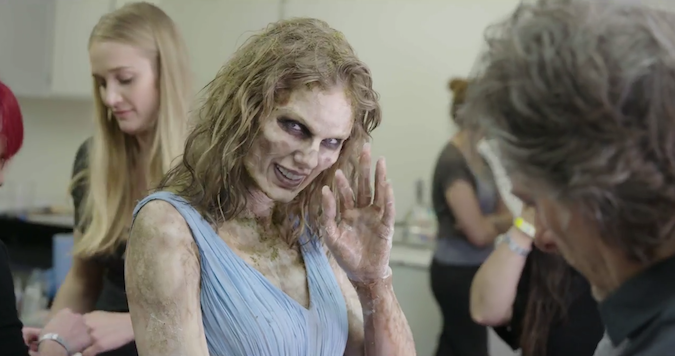 Photo of Taylor Swift in Look What You Made Me Do Zombie Makeup