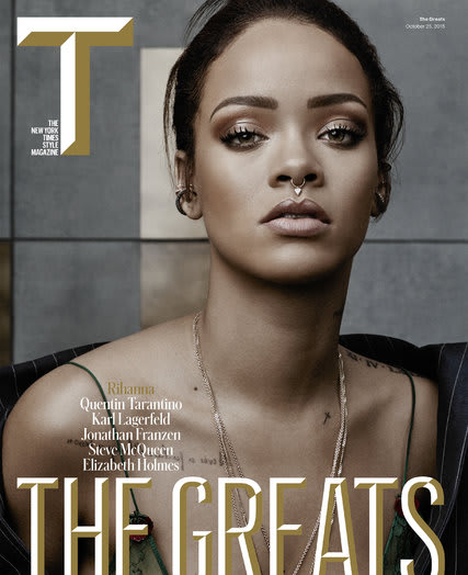 Photo: Rihanna T Magazine 2015 Cover
