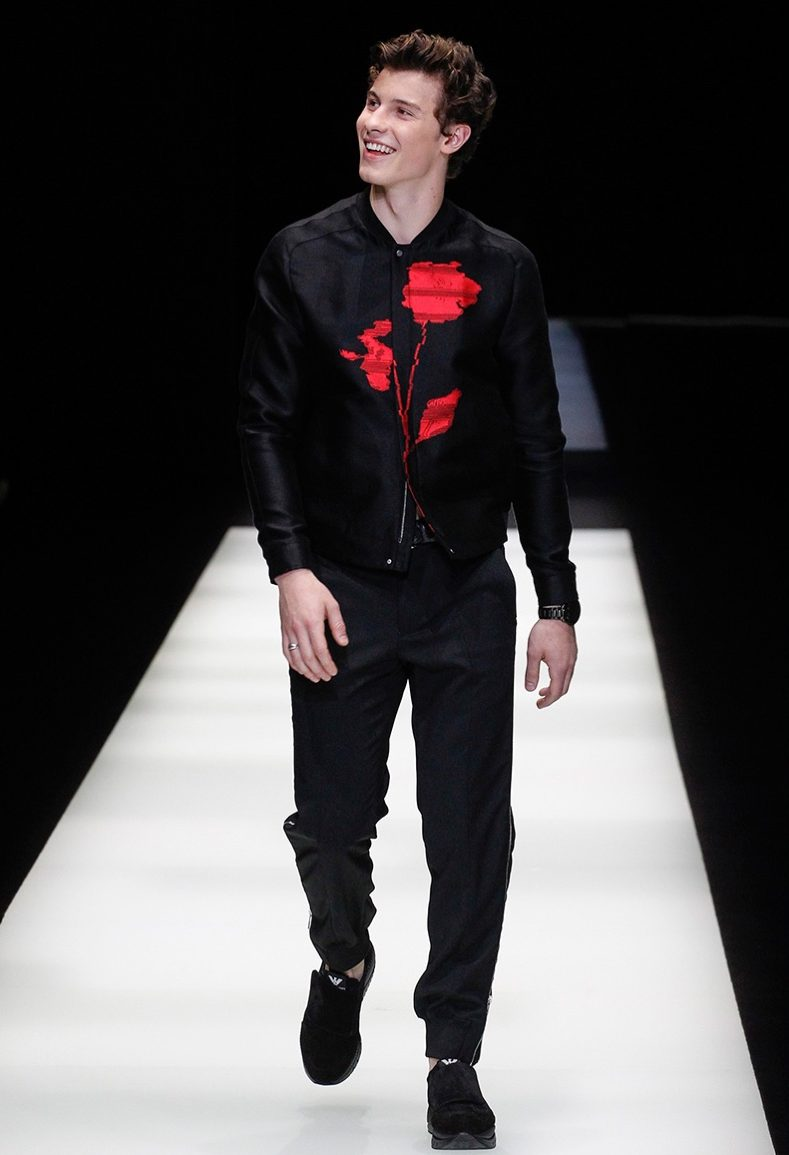 Shawn mendes holiday style blog umusic photo shawn mendes walks the armani fashion show m4hsunfo