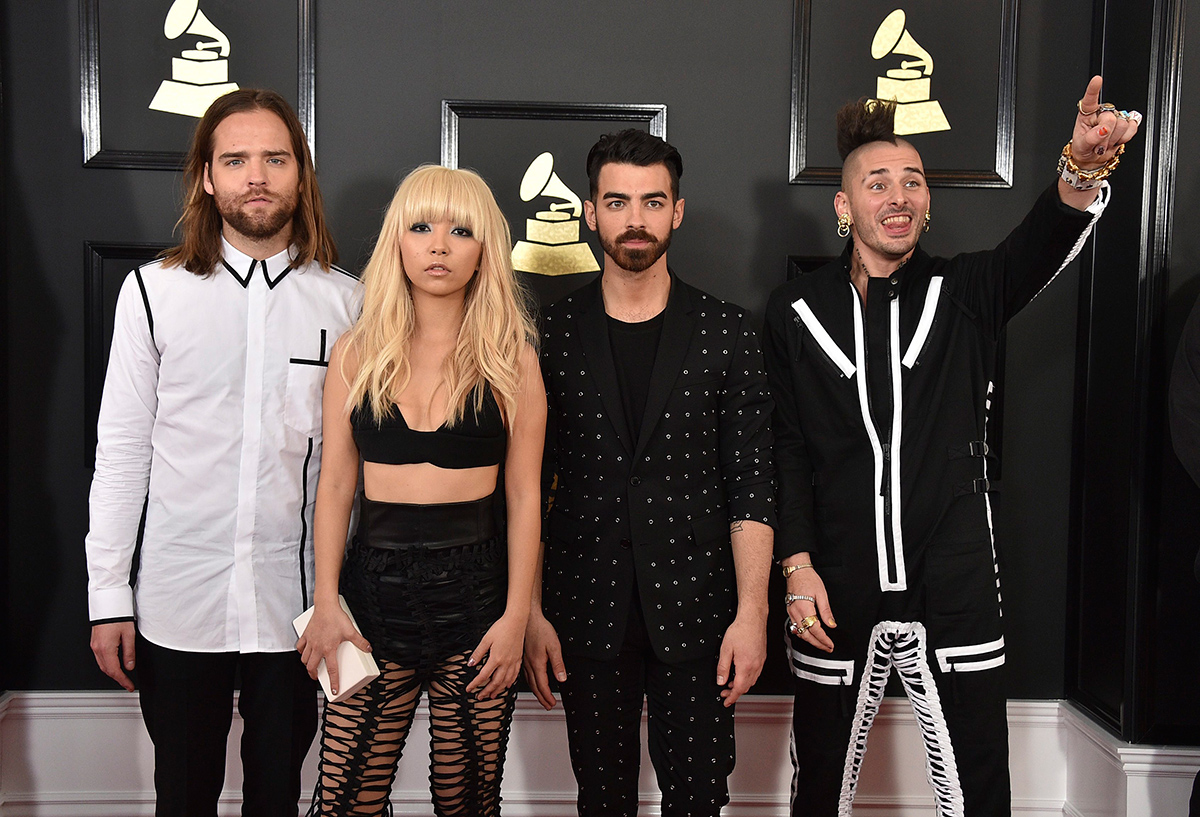 Photo of DNCE at the Grammys