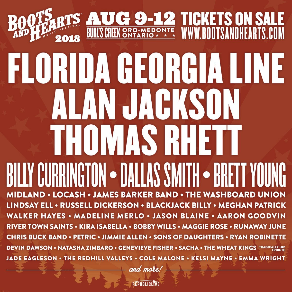 PHOTO: The 2018 Boots & Hearts Lineup