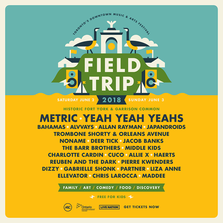 PHOTO: The 2018 Field Trip Festival Lineup