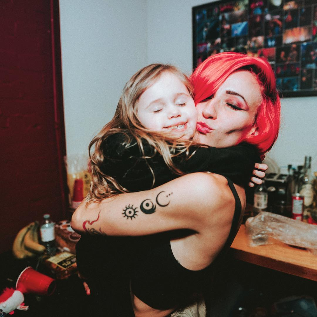 PHOTO: Lights and her daughter Rocket