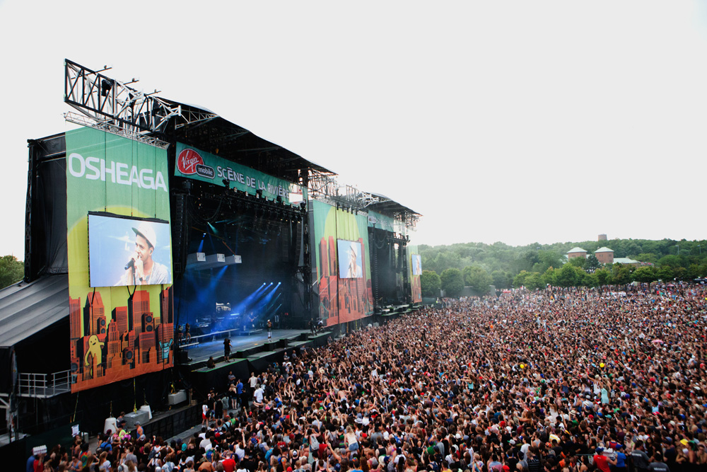 PHOTO: Stage at Osheaga Music and Arts Festival