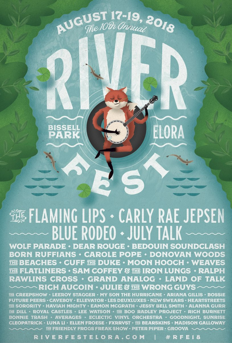 PHOTO: The 2018 Riverfest Lineup