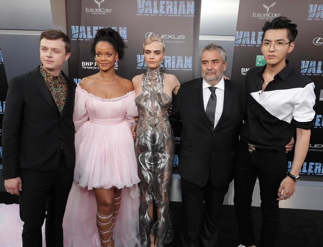 Photo: Kris Wu & cast of Valerian