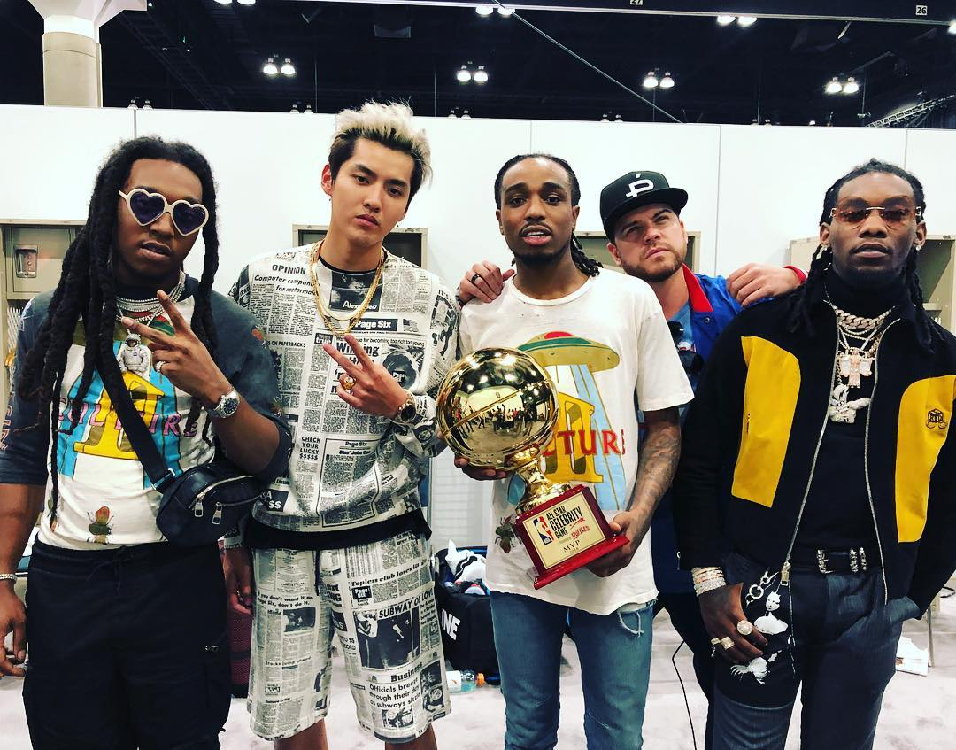 Photo: Kris Wu with Migos