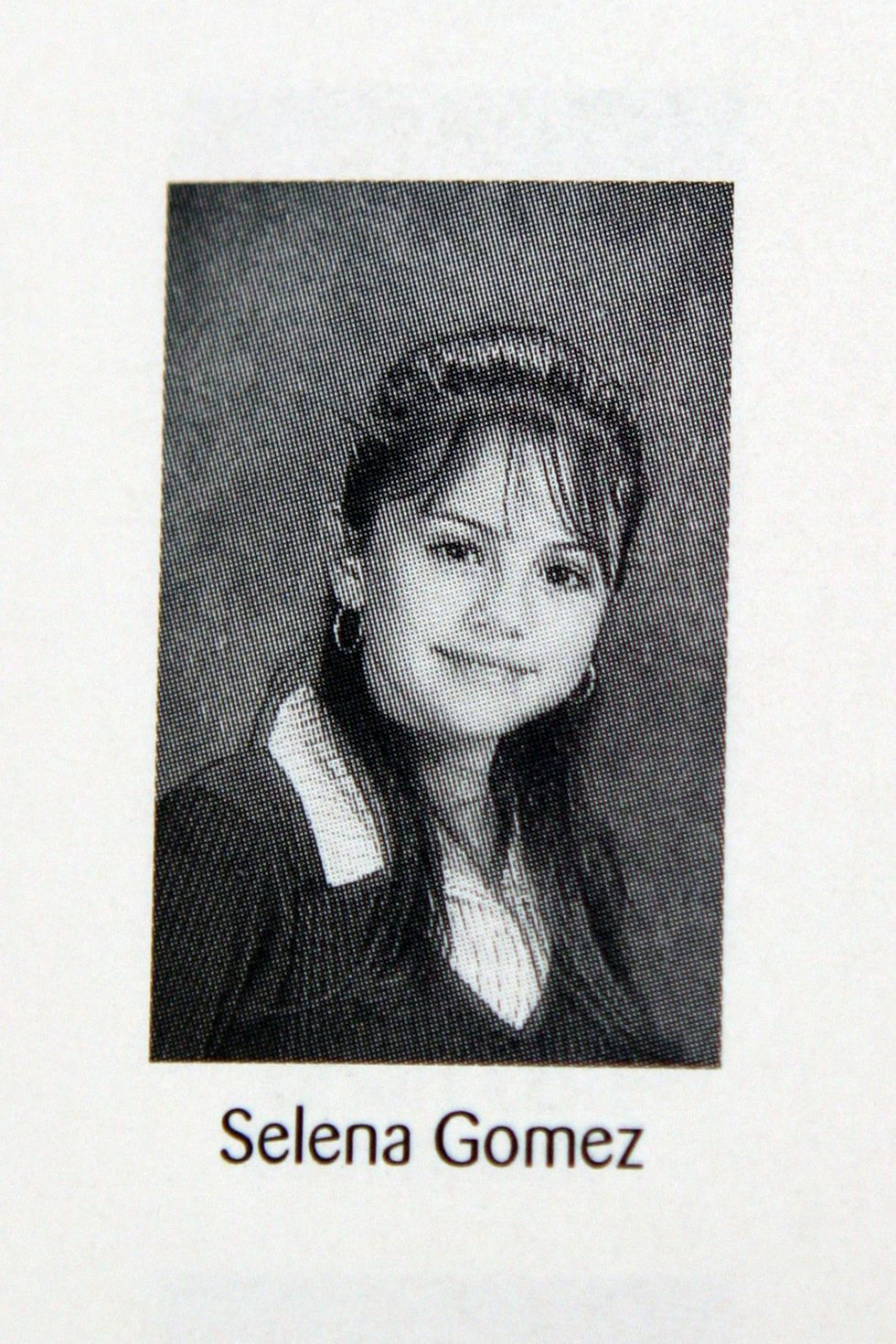 Photo: Selena Gomez yearbook