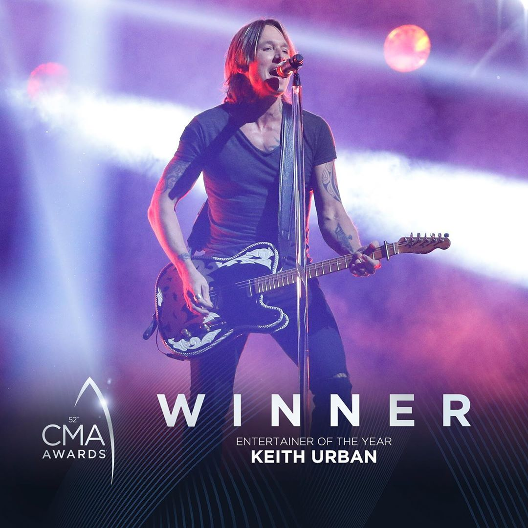 Photo: Keith Urban CMAs